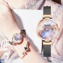 Bracelet Watch Rose-Gold Dress Saati Quartz Silver Mujer Reloj Womens Ladies DOM Kol