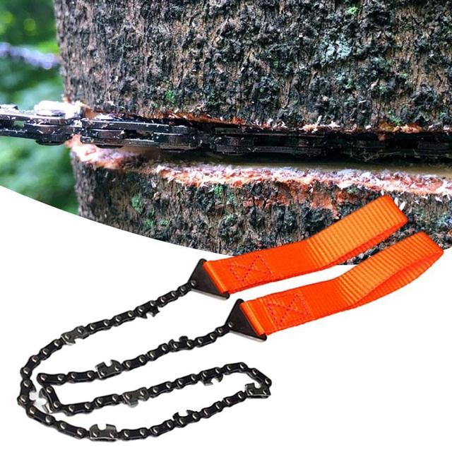 Portable Survival Chain Saw Chainsaws Emergency Camping Hiking Tool Pocket Hand Tool Pouch Outdoor Pocket Chain Saw 5