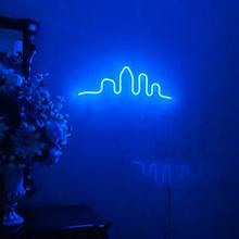 Niestandardowe małe miasto Neon Logo wodoodporny Led wizualny Bar ściana zapala się znak Neon Decor Neonlamp do pokoju tanie tanio CN (pochodzenie) Rectangle Akrylowe