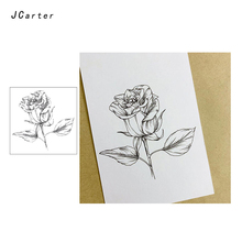 JC Clear Stamps Beautiful Rose Flower Rubber Silicone for Scrapbooking Paper Card Making Craft Decoration New Stamp 2019