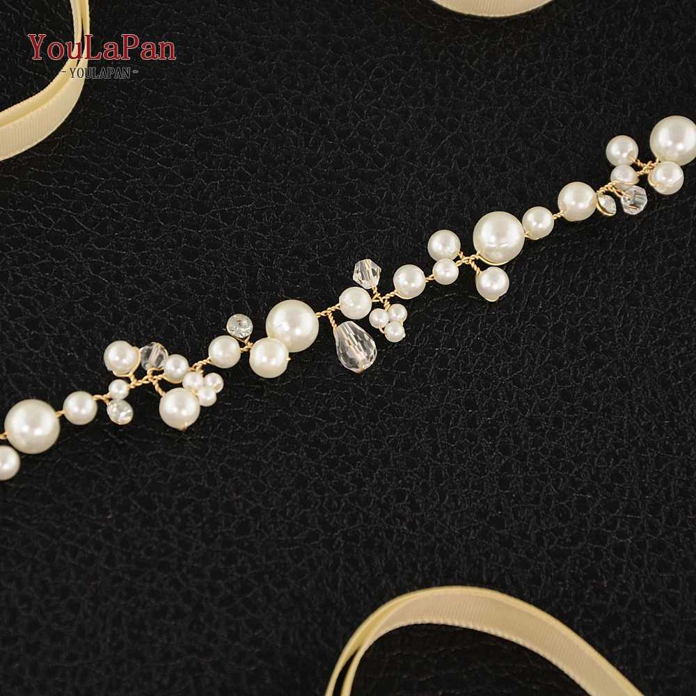 YouLaPan SH03 sliver Cristal Cintos De Noiva artesanal cinto Cintos finos para o Vestido de Casamento Faixa De Casamento Pérola para Acessórios Do Casamento