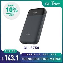 Gl. inet mudi (GL-E750) 4g mini roteador de viagem 750mbps 128gb max microsd com openwrt 7000mah batary portátil 4g lte roteador