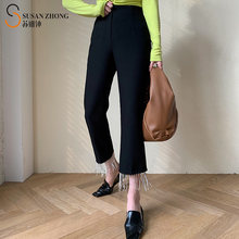 Женские брюки женские Элегантные Дизайнерские расклешенные с