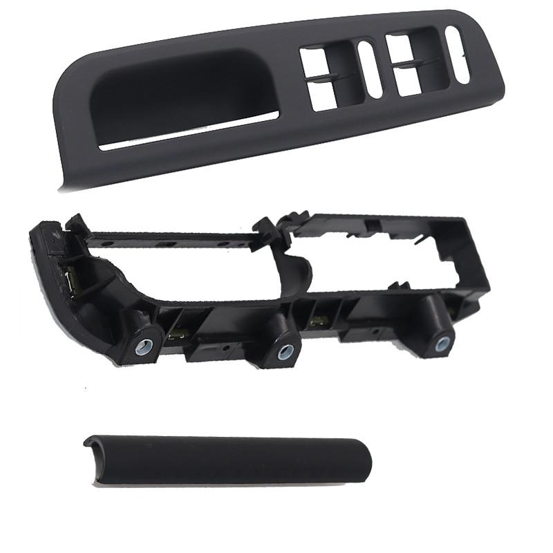 3Pcs Black Color for VW Passat B5 Interior Door Handle Lifter Switch Bracket Base Caps 3U1 867 179 3B1 867 171 E 3B0 867(China)