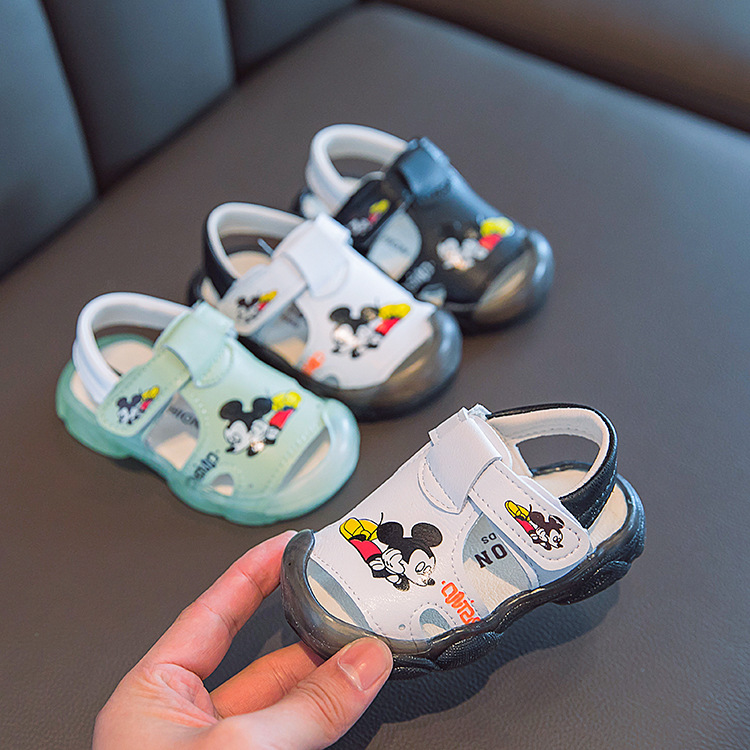 2020 Summer Kids Beach Sandals Soft Toddler Shoes 0-1-2-Year-Old Little Girl Shoes Boys First Walkers