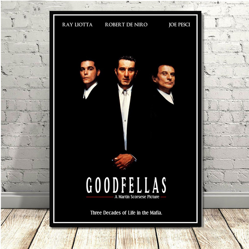 Goodfellas Classic <font><b>Gangsters</b></font> Godfather AL PACINO Movie <font><b>Poster</b></font> Prints Art Canvas Painting Wall Pictures Living Room Home Decor image