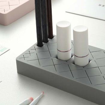36 Griglia Silicone Rossetto Scatola Di Immagazzinaggio Di Trucco Dell'organizzatore Espositore Di Cosmetici Pennello Titolare Matita Per Gli Occhi