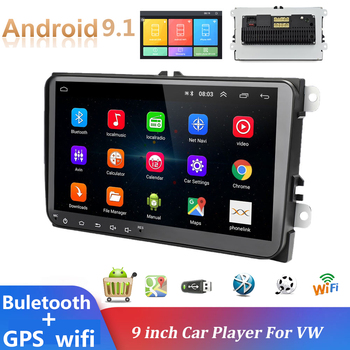 2din car radio Android 9.1 Multimedia Player GPS navigation WIFI Stereo Autoradio For Volkswagen/Skoda/Passat/Golf/Polo/Seat image