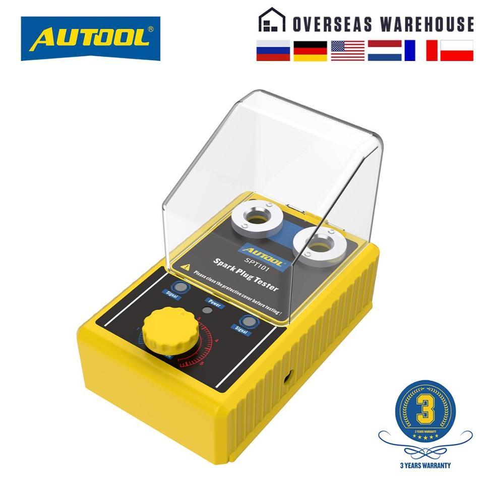 AUTOOL SPT101 Car Spark Plug /& Ignition Tools Automotive Diagnostic Scanner Vehicle Detector Ignition Spark Plug Tester Analyzer 110V for 12V Vehicles