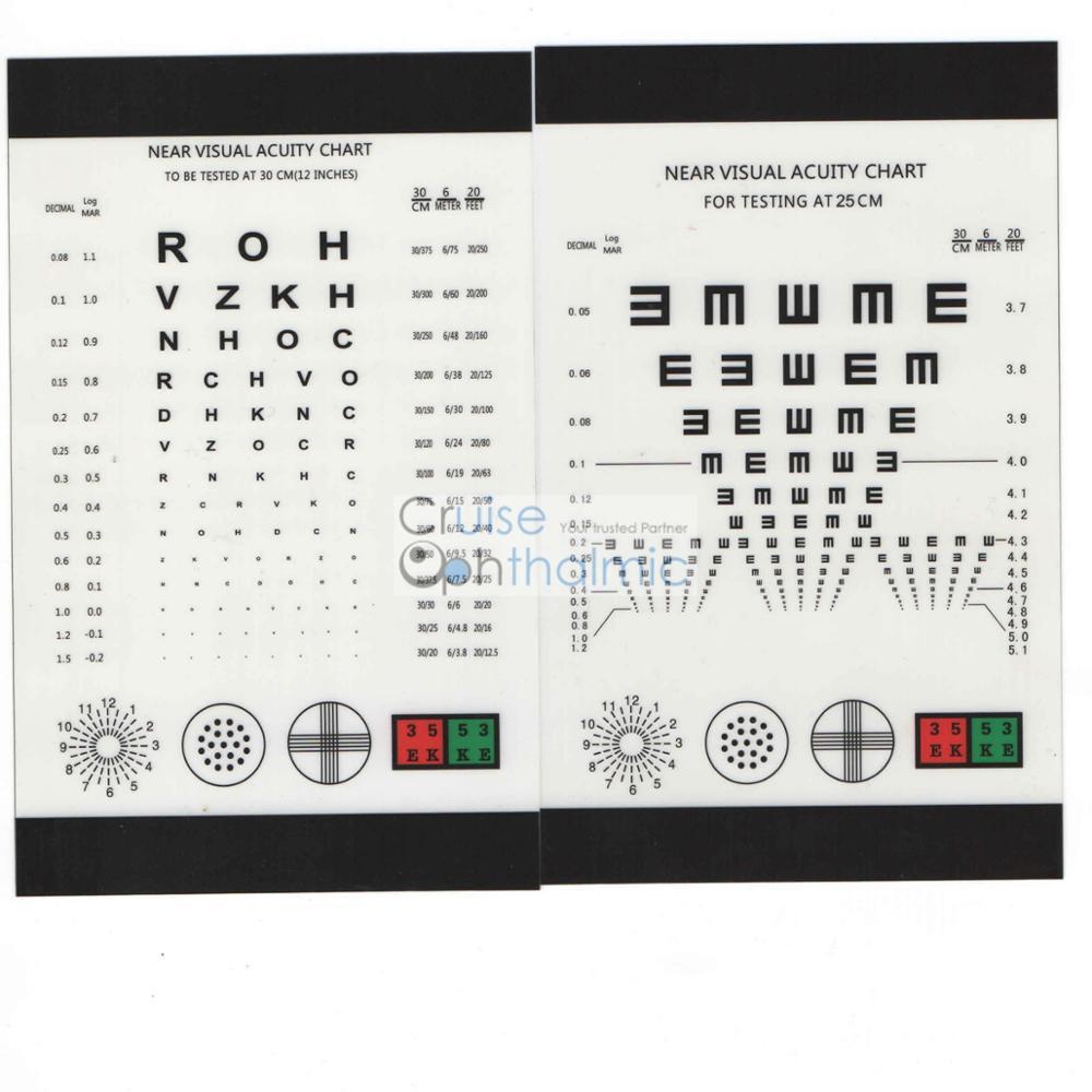 Probador de visión de cerca de 30 cm recargable CP30 con regla E y - Instrumentos de medición - foto 4