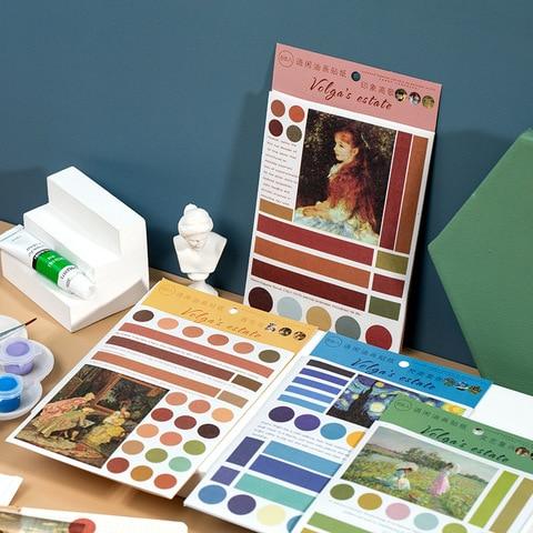 pintura arte diario decorativo movel adesivos scrapbooking diy artesanato adesivos