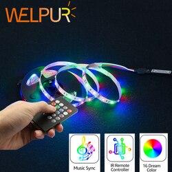 Bande lumineuse RGB Led, Flexible, IP65, 5V bande LED USB 2835 2835, ruban Led, ruban d'éclairage de fond de télévision
