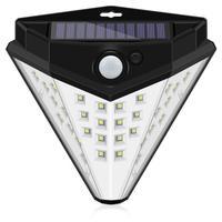 스팟 32 36 빛 삼각형 LED 태양 램프 바디 intellisense 벽 램프 정원 잔디 정원 조명