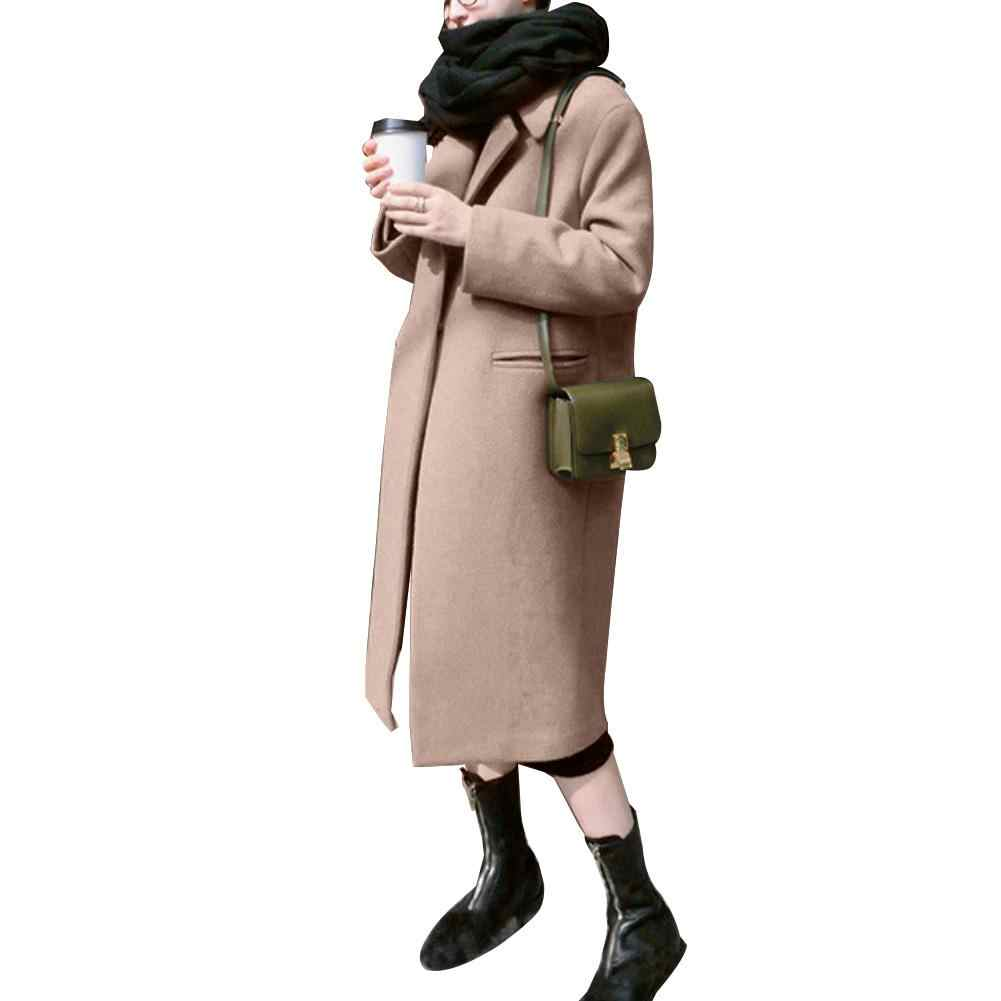 WOMENS Winter คอปกสี Thicken Slim Trench Coat WARM Outwear ผู้หญิงลง coats