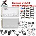 Новейший Carprog V10.93 V8.21 полный 21 Адаптеры автомобильный Prog 10 93 8 21 ECU чип тюнинг онлайн ECU программист подушка безопасности инструмент сброса