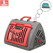 HIPET Cat Carrying Case Box Pet Carry Cage Outdoor Travel Portable Breathable Small Dog Bag Handbag Kitten Carrier Pack