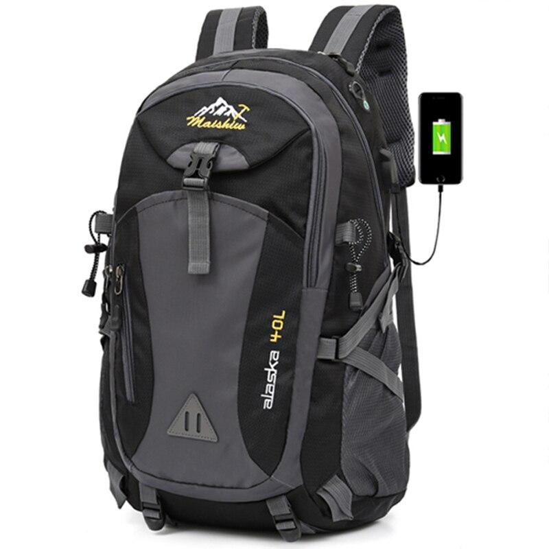 Mochila impermeable unisex de 40L para hombre, mochila de viaje, mochila deportiva, Montañismo al aire libre, senderismo, escalada, Camping, mochila para hombre