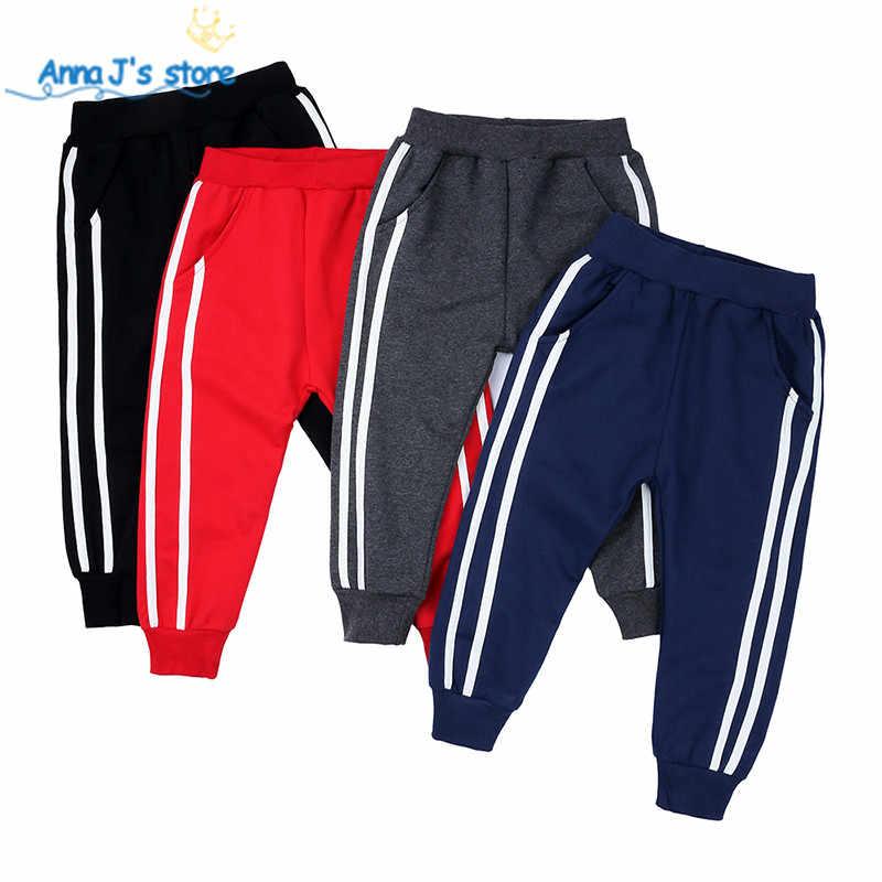 NZ322 moda sport dziewczyny chłopcy spodnie jesień paski 4 kolory szkoła bawełna wiosna spodnie legginsy spodnie dzieci Kid spodnie sportowe