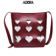 ADORA Love Leather Bag Ladies Hand Bags Tote Bag  Luxury Handbags Women Bags Designer  Casual Tote Famous Brands Shoulder Bag gykaeo women shell handbag ladies casual shopping shoulder bags handbags women famous brands high quality tote bag ladies bolsas