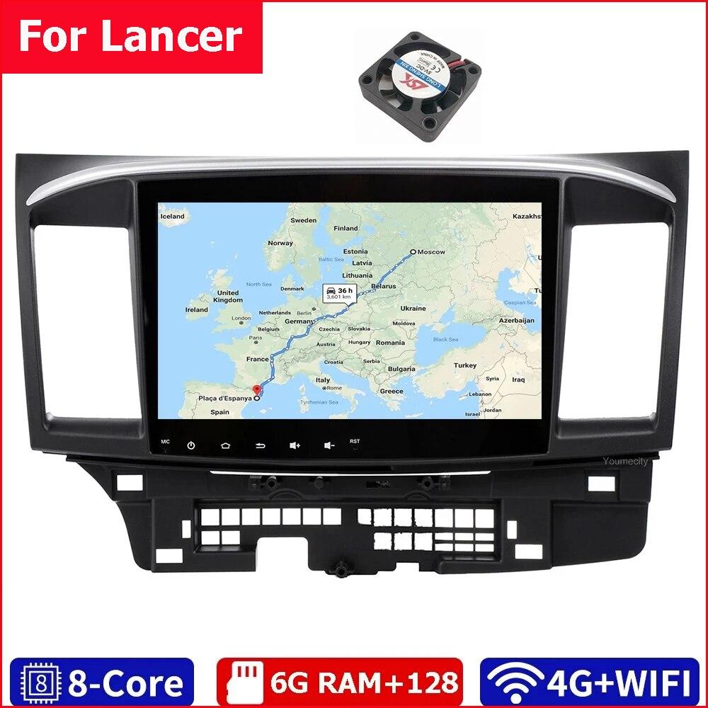 Youmecity Android 10.0 автомобильный DVD мультимедийный плеер для MITSUBISHI LANCER 2007-2018 9x10,1 дюймов 2DIN 3G/4G GPS Радио Видео Стерео