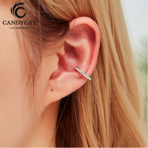 Fashion Small Ear Cuff Clip on Earrings for Women Colorful Crystal Clip Earrings Without Piercing Oorbellen Brinco Bijoux Femme(China)