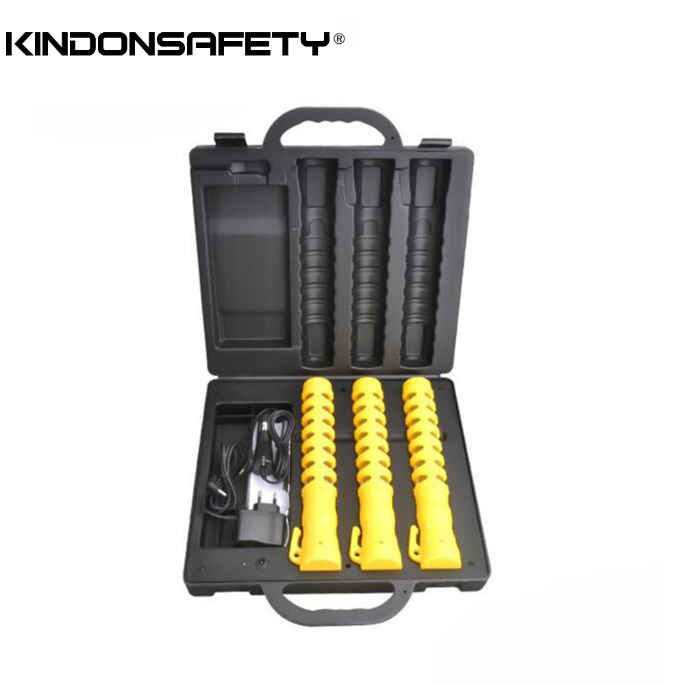 3 шт. в упаковке, дорожный предупреждающий светильник, светодиодный жезл, дорожный фонарь, перезаряжаемый, янтарный, красный, желтый цвет, опционально - Испускаемый цвет: YELLOW