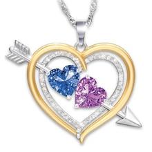 Модный популярный кулон в форме сердца с одной стрелой женское