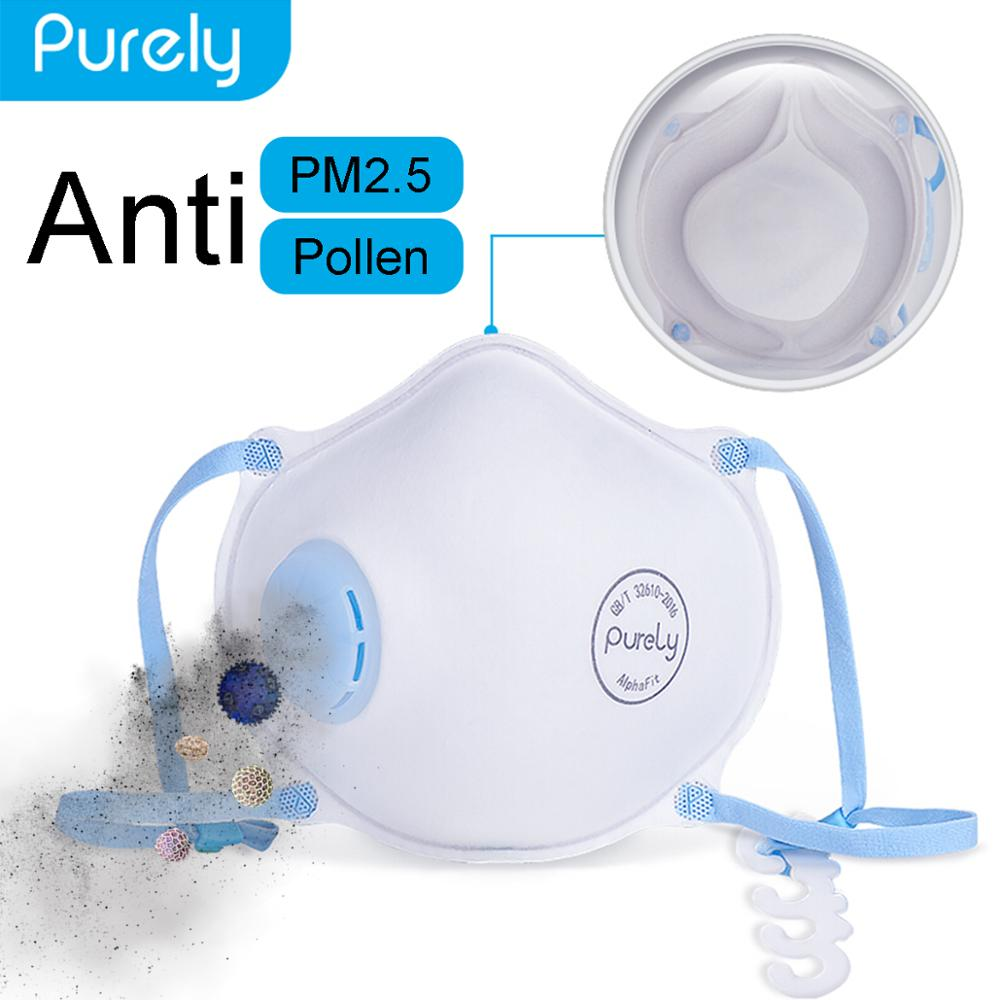 Xiaomi Mijia Purely Protective Mask For Kids PM2.5 Anti-haze Face Mask For Small Face Mouth Mask Masque With Breathing Valve
