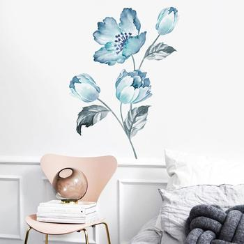 Orchid Flower Self Adhesive Mural Wall Sticker Home Living Room Background Decal image
