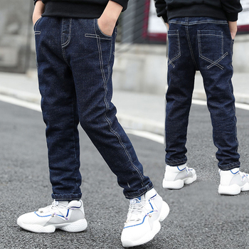 IENENS 5-13Y Boys Clothes Slim Straight Jeans Classic Bottoms Children Denim Clothing Long Pants Kids Baby Boy Casual Trousers 1