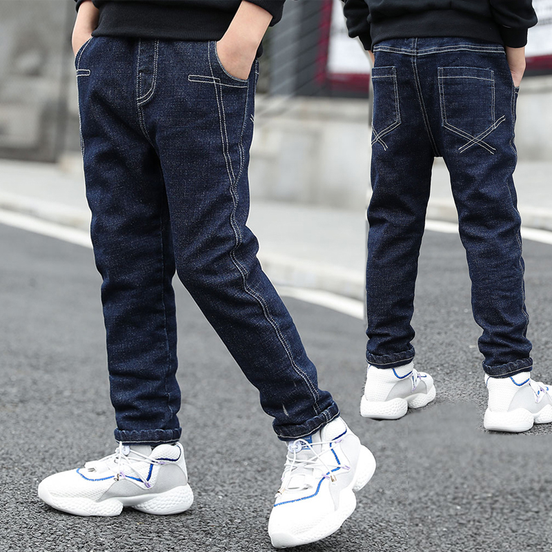 IENENS 5-13Y Boys Clothes Slim Straight Jeans Classic Bottoms Children Denim Clothing Long Pants Kids Baby Boy Casual Trousers
