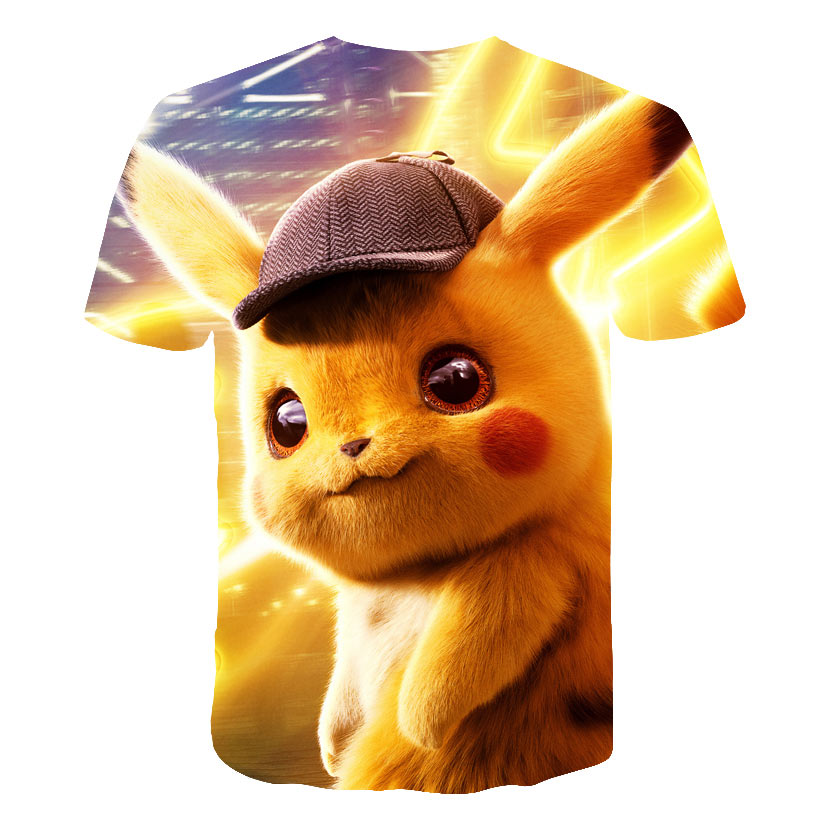 Image 4 - 2019 New Cartoon kids T shirts Pokemon 3D Printed Children 