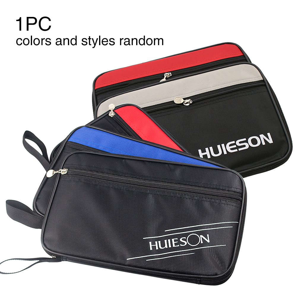 School Table Tennis Racket Case Portable Professional Pingpong Paddle Bag Indoor Games With Zipper Square Home Cover Gym