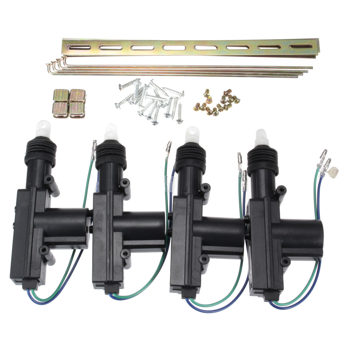 4pcs 12V Universal Auto Car Door Power Central Lock Motor 2 Wire Actuator Auto Vehicle Remote Central Locking System Motor