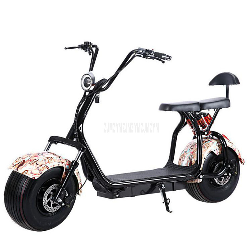 Big 2 Wheel New Electric Vehicle Adult Pedal Electric Bicycle Motorcycle Scooter With Seat Mileage 40km 1000W A/B type
