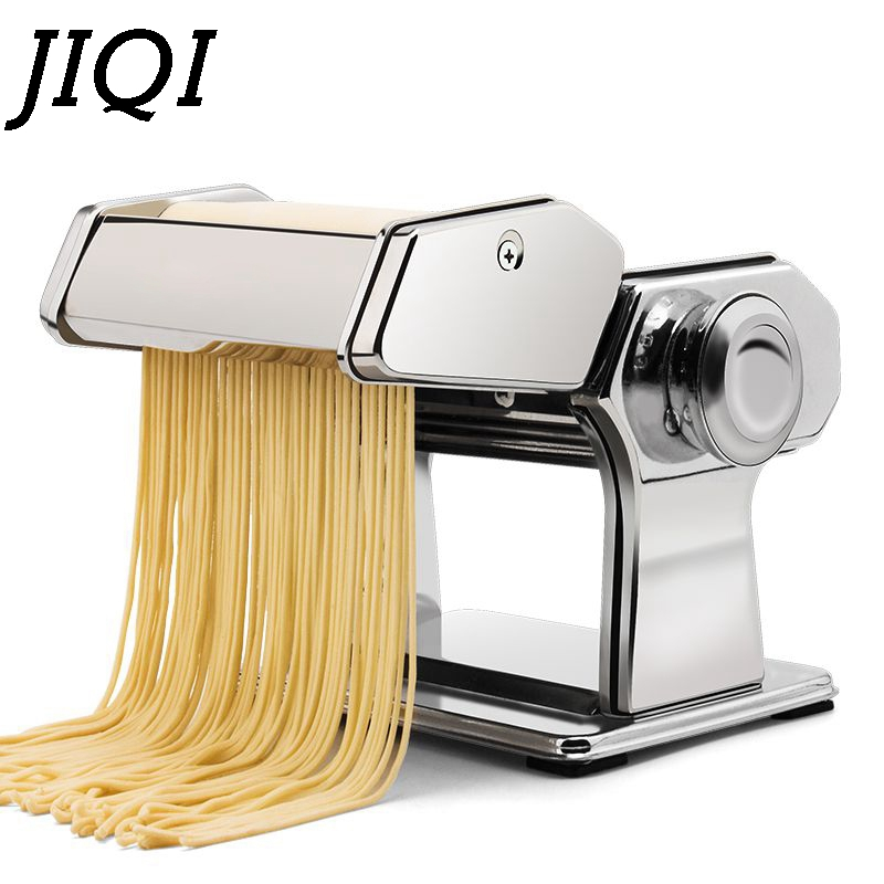 JIQI Hand Crank Pasta Maker Stainless Steel Manual Vegetable Noodle Making Noodle Machine Pressing Spaghetti Cutter Dough Hanger