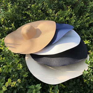 25CM Wide Brim Oversized Beach Hats For Women Large Straw Hat UV Protection Foldable Sun Shade Hat Wholesale Dropshipping