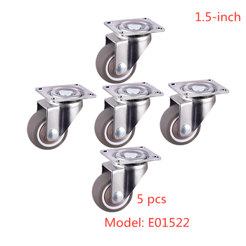 5 Pcs/Lot Casters Direct 1.5-inch Tpe Mute Wear-resistant Universal Wheel Flat Movable Caster Single Bearing Rubber Furniture фото