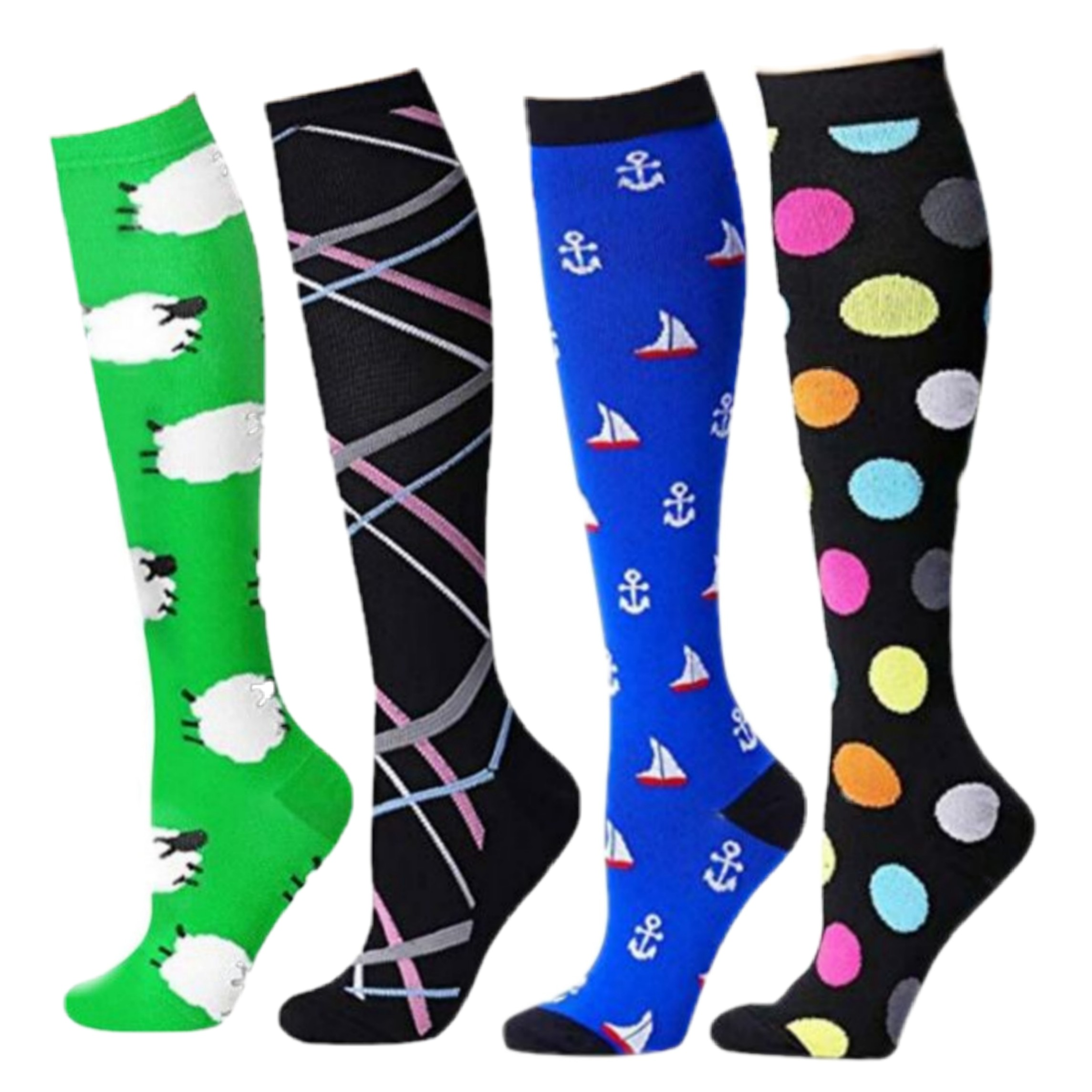 14 Colors Compression Stockings Men Women Medical Varicose Veins ,Diabetic, Swelling For Anti Fatigue Hockey Golf Rugby Socks