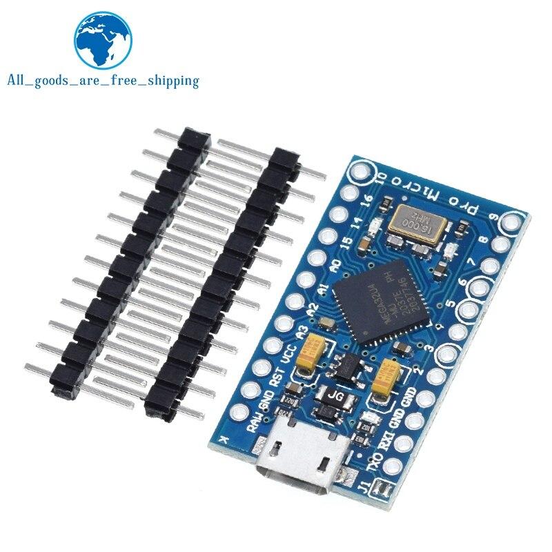 Tzt Pro Micro ATmega32U4 5V 16Mhz Vervangen ATmega328 Voor Arduino Pro Mini Met 2 Rij Pin Header Voor leonardo Mini Usb Interface 3