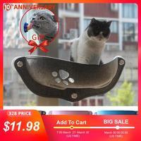 Offre spéciale hamac pour animaux de compagnie lits portant 20kg chat fenêtre chaise longue aspiration hamac pour animaux de compagnie chat fenêtre étagère confortable chat furet lit pour animaux de compagnie