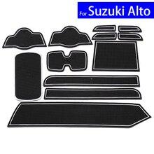 Car Door Gate Slot Mats Carpets Position Cup Holder Pads For Suzuki Alt