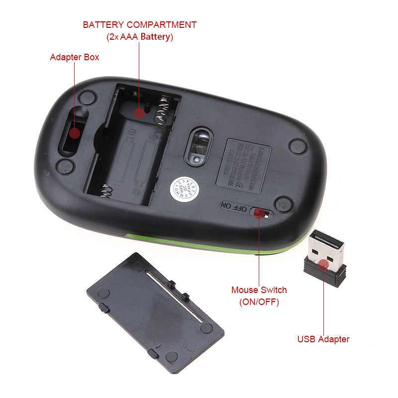 Smukła bezprzewodowa mysz 2.4 ghz do laptopa PC 1600DPI 10m odległość robocza do laptopa optyczna bezprzewodowa mysz komputerowa