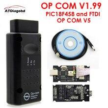 2019 v1.99 opcom v1.95 ferramenta de diagnóstico, profissional para opel op com OP-COM com pic18f458 firmware v1.59 auto scanner