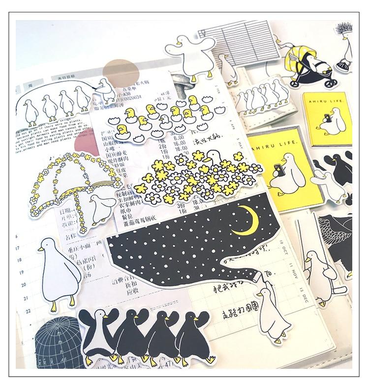 22pcs Cute Goose Stickers DIY Scrapbooking Album Junk Journal Happy Planner Decorative Stickers