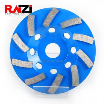 Raizi 5 Inch/125mm Concrete Grinding Wheel For Angle Grinder With 22.23 mm Bore 5 inch 125mm single row cup wheel for concrete grinding disc grinding wheel bore 22 23mm