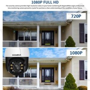 Беспроводная купольная камера INQMEGA, 1080P, PTZ, водонепроницаемая, 4-кратный цифровой зум, 1 дюйм, мини, WiFi, камера видеонаблюдения ISCEE