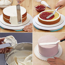 Cake Decorating Tools Stainless Steel Baking & Pastry Tools Portable Cream Spatula Cake DIY Butter Accessories Kitchen Gadgets stainless steel wire cake cutter slicer adjustable diy butter bread divider pastry cake kitchen baking tools