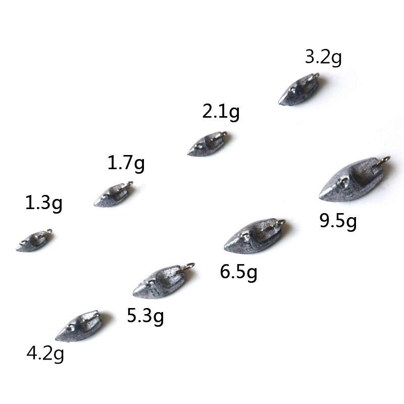 Universal lead head 10pcs 2 1g 3 2g 4 2g 6 5g 9 5g Counterweight crank carp fish hook jig head fishing tackle accessories pesca in Fishhooks from Sports Entertainment