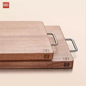 Image 3 - Original Huohou Wood Chopping Block For Meat Fruit Vegetable Bar Kitchen Tools Ebony Wood Thick Cutting Board S L